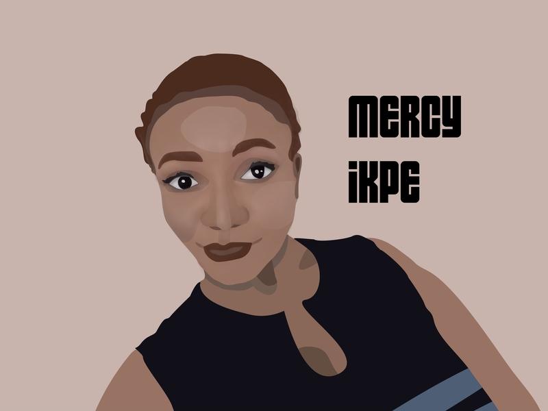 Mercy Ikpe minimal illustration vector typography flat design