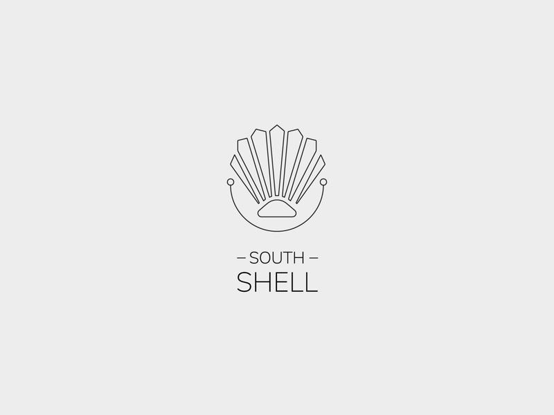South Shell - Creative Photography Freelancer Logo logo south shell photographer logo mark vector linework clean minimal logo design