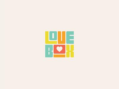 LoveBox - Fun Logo Wordmark for Candy Arrangement Gift Boxes colorful fun logotype playful minimal logo design vector clean