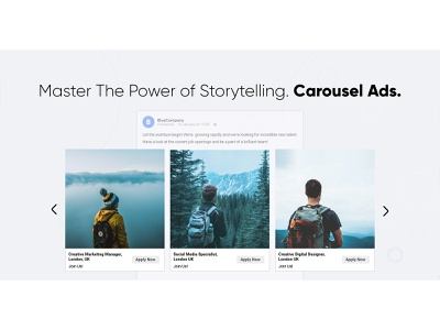 Mastering Carousel Ads social media ads banner carousel ads carousel minimal automation startup marketing recruitment web design clean