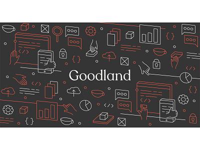 Goodland illustration technology talent lineart linework web design recruitment minimal illustration vector clean