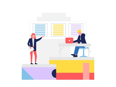 For companies - Illustration agency employer construction companies industry recruitment web design illustration vector clean