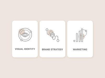 Illustrative Category Icon Set category icons minimal flat identity visual strategy branding ui marketing recruitment web illustration vector design clean