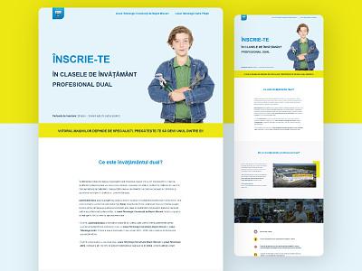 Automobile Dacia - Dual vocational education program automotive minimal brand page landing program school webdesign ui marketing recruitment web design clean branding
