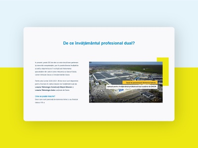 Automobile Dacia - Dual vocational education program 2 webdesign landing page card enroll school automotive branding ui marketing recruitment web design clean