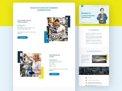 Automobile Dacia - Dual vocational education program 3 page landing automotive minimal webdesign program school brand branding marketing recruitment web design clean ui