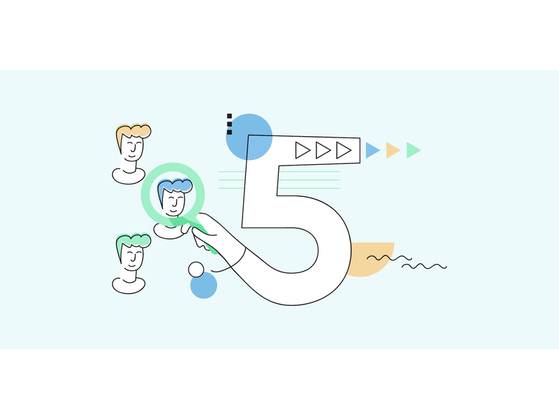 5 Tips for Making Your ATS a Recruitment Marketing Machine memphis automation bauhaus recruitment marketing clean blog startup minimal blog post blog header web vector flat illustration design