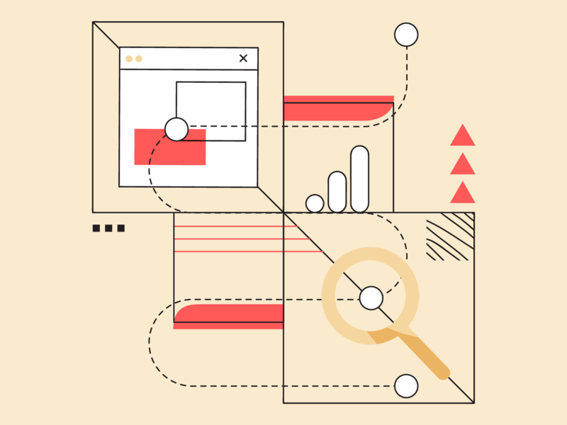 Can Google Analytics Help You Track Your Employer Brand brand employer google analytics banner blog header blog post recruitment marketing automation startup minimal clean flat web vector design illustration