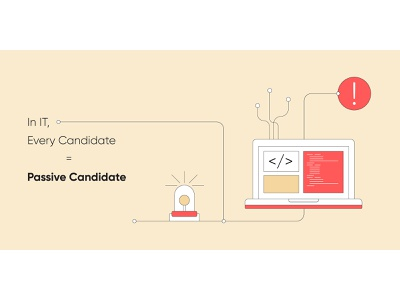 5 Unique Challenges for Recruiting IT Talent it jobs candidate blog header blog post startup marketing automation recruitment minimal web design clean vector illustration
