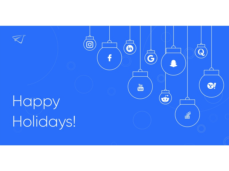 Holiday Greetings 2020 new year holidays chirstmas social media marketing startup recruitment design clean vector illustration
