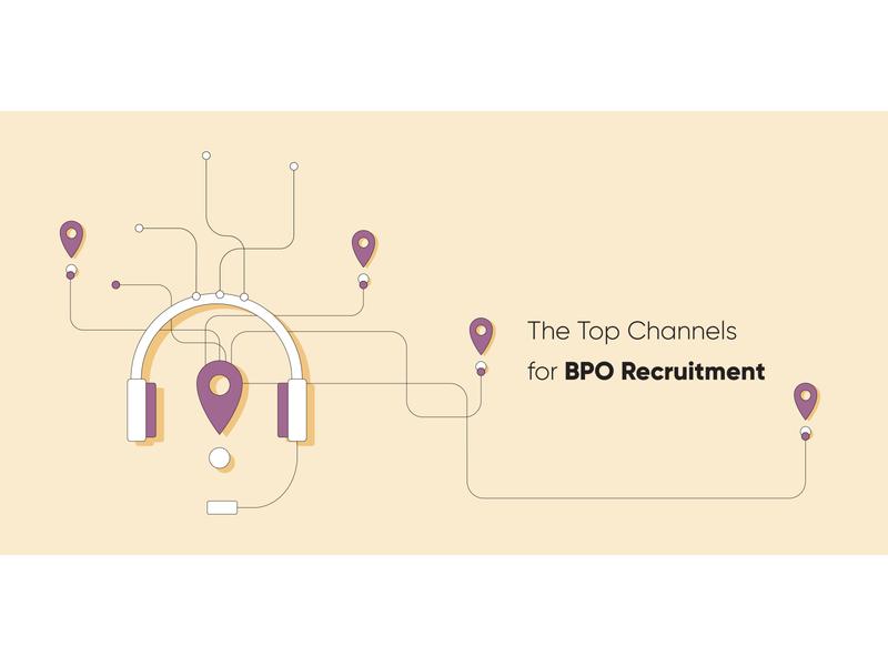 The Top Channels for BPO Recruitment blog channels bpo blog header blog post automation startup marketing recruitment web design clean vector illustration