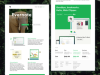 Evernote Home Page Redesign – Design Exercise
