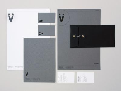 Via Padova   Nugno icon letterheads minimal logo editorial branding