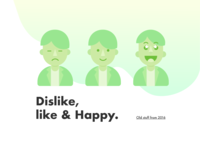 Dislike like & Happy