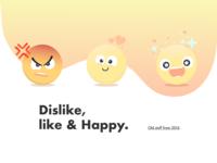 Dislike Like Happy Next