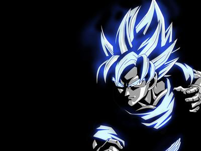 Goku's Glowing Aura Wallpaper