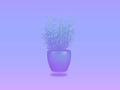 Potted plant wallpaper potted plant plant periwinkle blue vaporwave art digital art design minimalist illustration