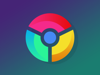 Gradient Chrome logo
