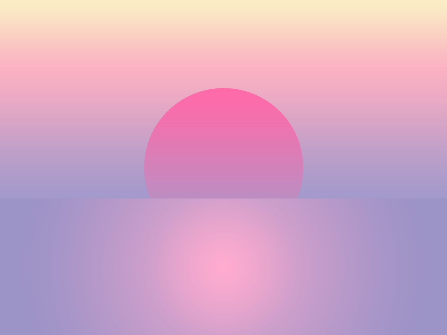 Sunset Over Water violet pink sunny surf dusk dawn summer art wallpaper relax cool vibes calm retro chill vaporwave water sunset sun vector
