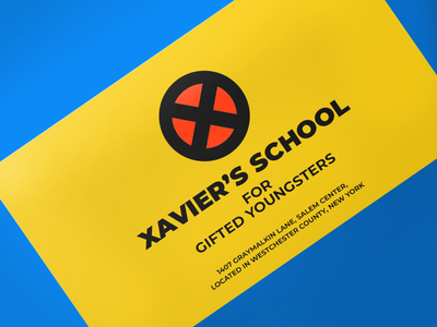 Superhero business card | Weekly Warm-ups branding graphic design digital art design creative artwork artoftheday artist art mutant superhero calling card invite dribbble weekly warm-ups card business card disney marvel x-men
