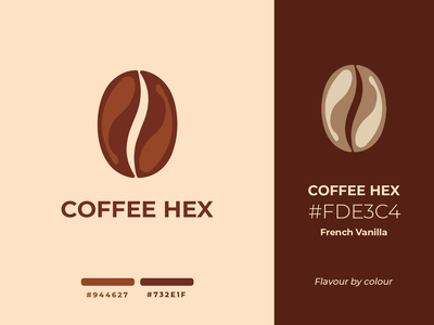 Coffee Hex logo | Weekly Warm-ups design brewed beverage drink vanilla cappuccino latte coffee dribbbleweeklywarmup vector print logo identity illustration fiction packaging package brand identity branding