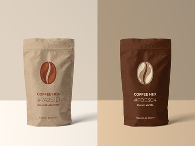 Coffee Hex packaging | Weekly Warm-ups design brewed beverage drink vanilla cappuccino latte coffee dribbbleweeklywarmup vector print logo identity illustration fiction packaging package brand identity branding