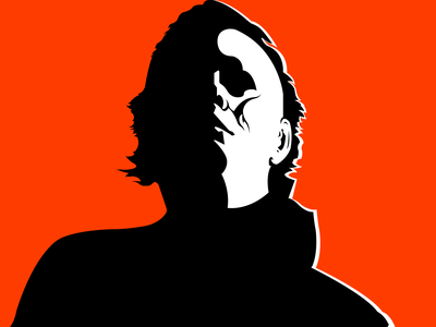 Michael Myers | Weekly Warm-ups creative art flat minimalist identity poster vector horror illustration fiction dribbbleweeklywarmup design michael myers myers michael halloween spooky