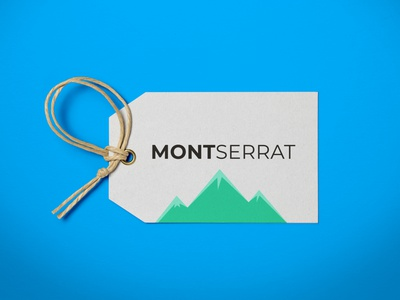 Montserrat Typeface | Weekly Warm-ups typeface font montserrat gift tag print minimal logo illustration holiday gift tag holiday tag holiday flat dribbbleweeklywarmup design creative color christmas tag artwork art