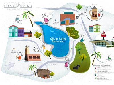 Silverlake Map Flat Art 2