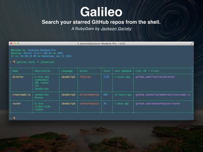 Galileo developer console ruby github flat