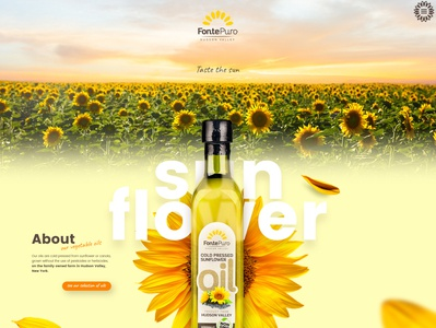 FontePuro sunflower oils mainpage