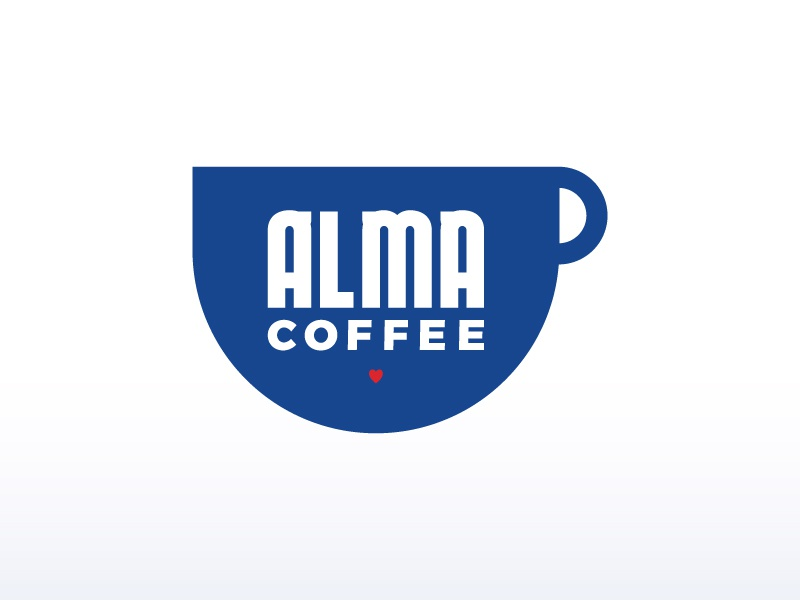 Alma Coffee coffee poster iconography logo brand identity graphic art