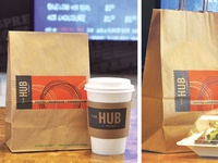 The Hub at Holiday Inn Café Packaging