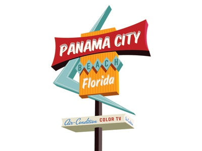 Panama City Beach Vintage Sign