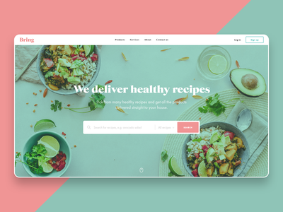 Healthy Food Delivery Web Concept