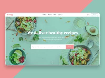Healthy Food Delivery Web Concept
