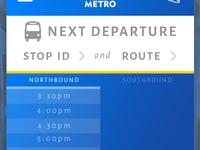 Capital Metro Mobile Redesign
