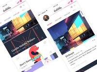 Dribbble - Mobile Redesign