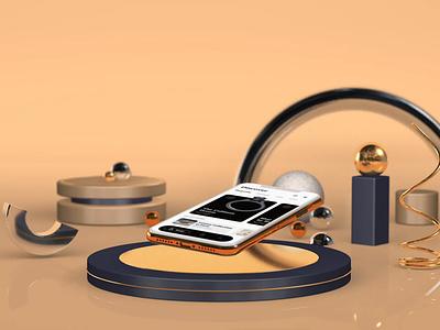 Rings app luxury motion diamonds jewelry rings cinema4d 3d app