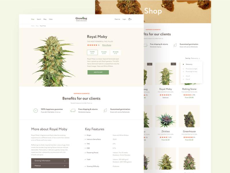 Marijuana blog and shop