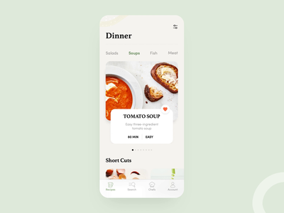 Recipes App (Motion) light delicious dish food ingredients kitchen lunch recipes tasty restaurant clean cook calories colorful