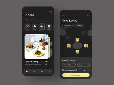 Table Booking App nutrition meal eat delicious listing delivery food places restaurant app booking