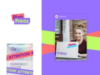Branding for printing company tape graphic stickers brand identity photos branding logo colorful