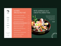 Restaurant's website asian fish ui website colorful typogaphy sushi cooking cafe menu food