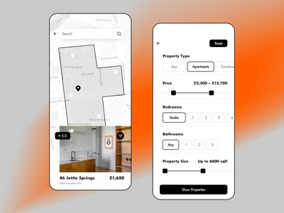 Real Estate App (Part 2) strict real estate realestate landlord mortgage property properties space apartment blackandwhite room planning home listing flat rental filter map drawing scheme
