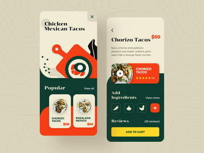 Mexicano food delivery tasty cuisine kitchen icons illustrations brutalism colorful bright cooking dishes app delicious mexicano recipes food delivery