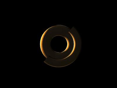 Quicksilver & Golden Agency Logo silver gold motion fluid cinema4d 3d logo