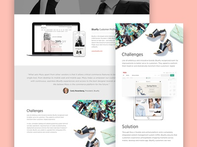 Living Case Study marketing clothes layout apparel retail fashion design website landing page customer