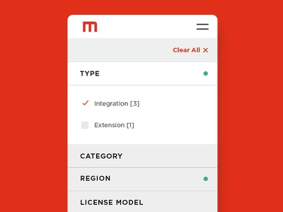 Resource Filter ui user interface organize sort mobile category filter