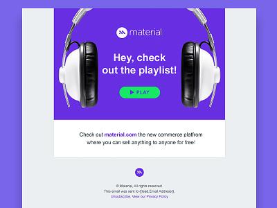 Promo Email blast promo design marketing promotional music playlist email